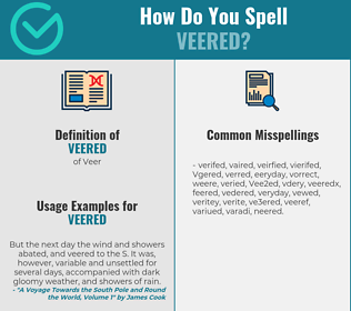 Correct spelling for Veered