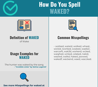 Correct spelling for Waked