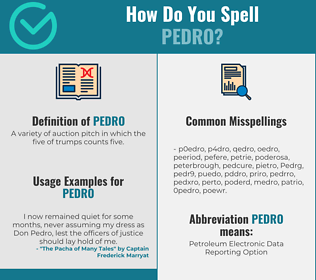 Correct spelling for Pedro