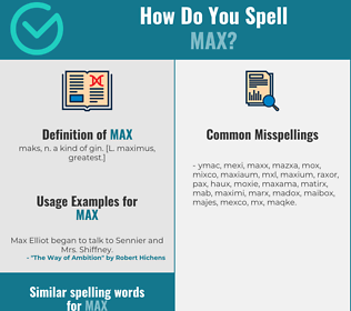 Correct spelling for max