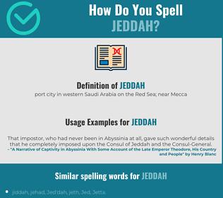 Correct spelling for Jeddah