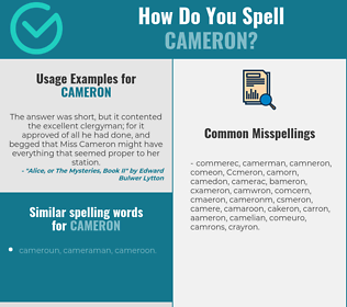 Correct spelling for Cameron