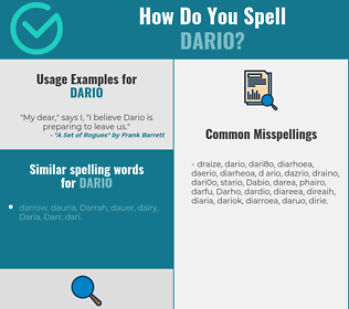 Correct spelling for Dario