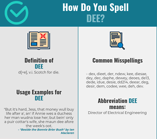 Correct spelling for Dee