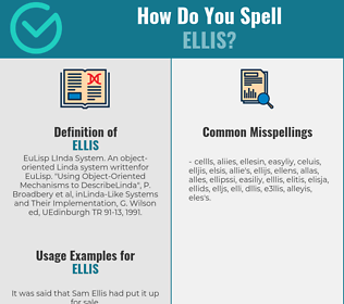 Correct spelling for Ellis