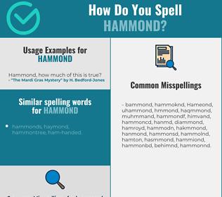 Correct spelling for Hammond
