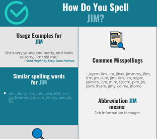 Correct spelling for Jim