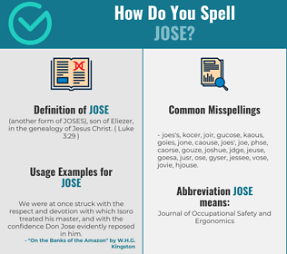 Correct spelling for Jose