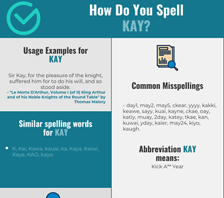 Correct spelling for Kay