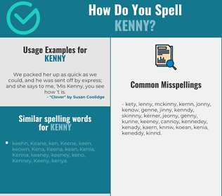 Correct spelling for Kenny