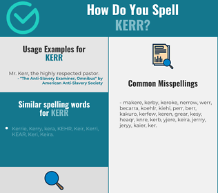 Correct spelling for Kerr