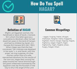 Correct spelling for Hagar