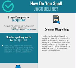 Correct spelling for Jacqueline