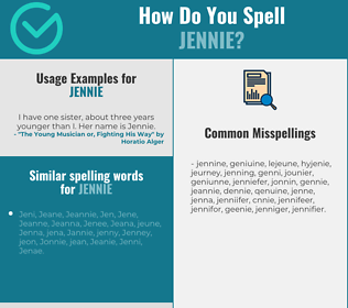 Correct spelling for Jennie