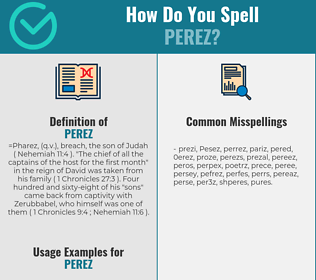Correct spelling for Perez