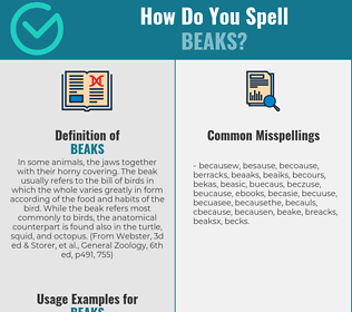 Correct spelling for Beaks