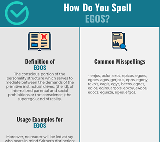 Correct spelling for Egos