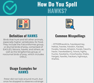 Correct spelling for Hawks