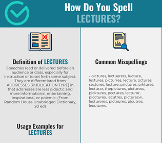 Correct spelling for Lectures