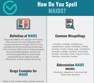 Correct spelling for MAIDS