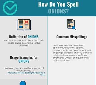 Correct spelling for Onions