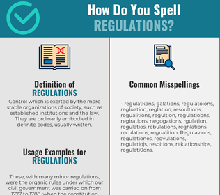 Correct spelling for Regulations