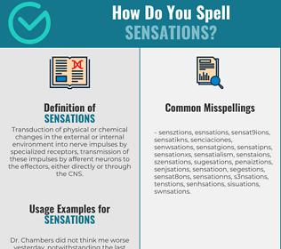Correct spelling for Sensations