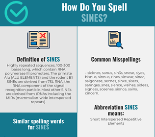 Correct spelling for SINEs
