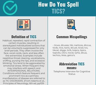 Correct spelling for Tics