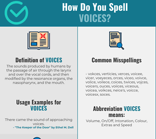 Correct spelling for Voices