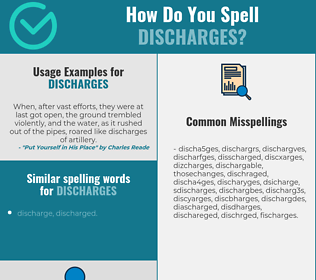 Correct spelling for discharges