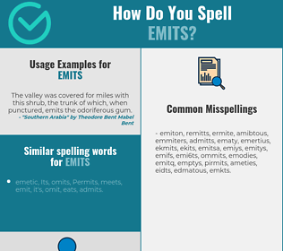 Correct spelling for emits