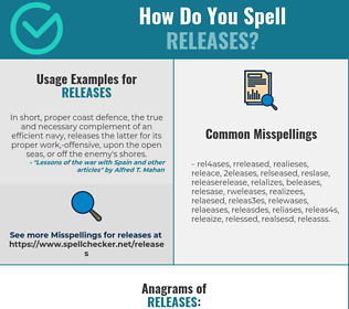 Correct spelling for releases