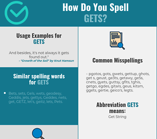 Correct spelling for gets