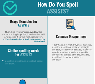 Correct spelling for assists