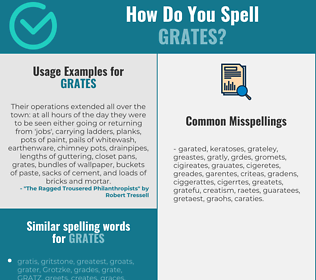 Correct spelling for grates