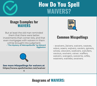 Correct spelling for waivers