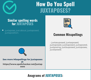 Correct spelling for juxtaposes