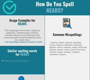 Correct spelling for nears