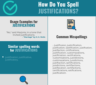 Correct spelling for justifications