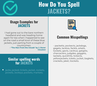 Correct spelling for jackets