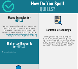 Correct spelling for quills