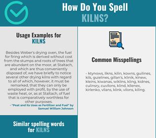 Correct spelling for kilns