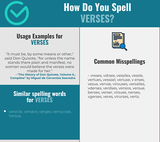 Correct spelling for verses