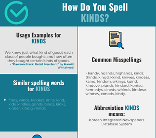 Correct spelling for kinds