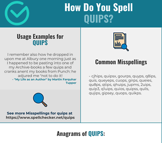 Correct spelling for quips