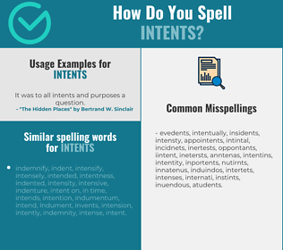 Correct spelling for intents
