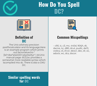 Correct spelling for DC