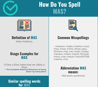 Correct spelling for MAS