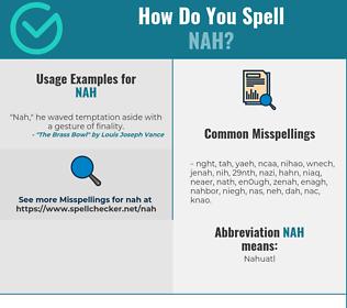 Correct spelling for NAH